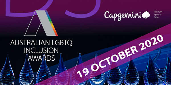 Images says the event is postponed to 19 October 2020. Includes a logo of Capgemini, the platinum sponsor of the awards.